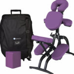 Portable massage chair with carrying case